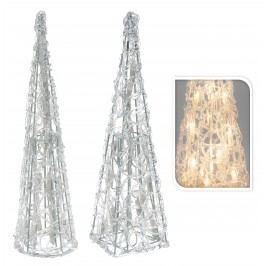 Svietiaca pyramida, 20 svetiel, 38 x 10 cm