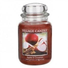 Village Candle Vonná svíčka ve skle, Jablko a skořice - Apple Cinnamon, 645 g