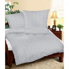 Krepové obliečky sivá, 160 x 200 cm, 2ks 70 x 80 cm