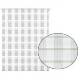 Gardinia Roleta easyFix Karo dvojtá biela, 60 x 150 cm