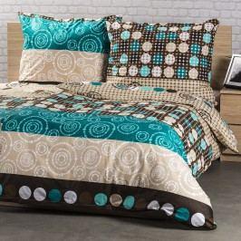 Kvalitex Bavlnené obliečky Circles, 200 x 200 cm, 2 ks 70 x 90 cm