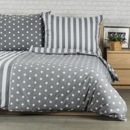 Bavlnené obliečky Stars sivá, 140 x 200 cm, 70 x 90 cm