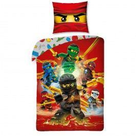 Halantex Detské bavlnené obliečky Lego Ninjago red, 140 x 200, 70 x 90 cm