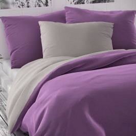 Kvalitex Saténové obliečky Luxury Collection fialová/svetlosivá, 240 x 200 cm, 2 ks 70 x 90 cm