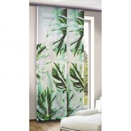 závesový panel Leo zelenomodrý, 245 x 60 cm