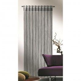 Povrázková záclona Cord sivá, 90 x 245 cm