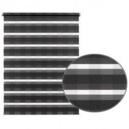 Gardinia Roleta easyFix Karo dvojtá antracit, 100 x 150 cm