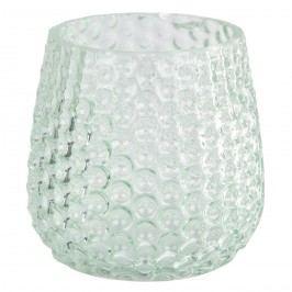 Elegantný skleneny svietnik, svetlozelená