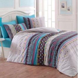 Night in Colours Bavlnené obliečky Melanie modrá, 140 x 200 cm, 70 x 90 cm