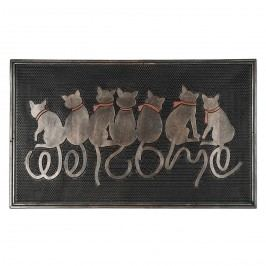 Vonkajšia rohožka Sediaci mačky, 45 x 75 cm