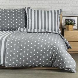 Bavlnené obliečky Stars sivá, 140 x 220 cm, 70 x 90 cm