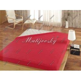 Matějovský prestieradlo Jersey červená, 100 x 200 cm