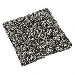 Sedák Ivo čipka čierna na režnej, 40 x 40 cm