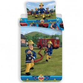 Jerry Fabrics Detské bavlnené obliečky požiarnik Sam 007, 140 x 200 cm, 70 x 90 cm