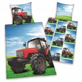 Detské bavlnené obliečky Traktor, 140 x 200 cm, 70 x 90 cm