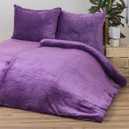 Obliečky Mikroplyš fialová, 140 x 200 cm, 70 x 90 cm