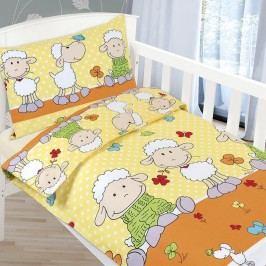 Obliečky detské AGÁTA Ovečky, 90 x 135 cm, 45 x 60 cm