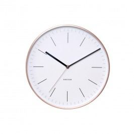 Karlsson 5507WH Designové nástenné hodiny, 28 cm