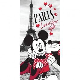 Jerry Fabrics Osuška Mickey & Minnie Love Paris, 70 x 140 cm