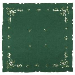 Vianočný obrus imelo zelená, 85 x 85 cm