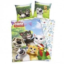 Herding Detské bavlnené obliečky Talking Tom a kamaráti, 140 x 200 cm, 70 x 90 cm