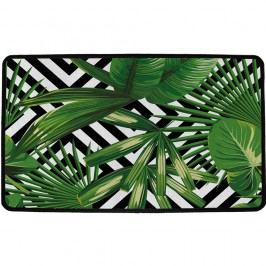 Vnútorná multifunkčná rohožka Green leafs, 75 x 45 cm