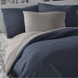 Kvalitex Saténové obliečky Luxury Collection svetlosivá/tmavosivá, 200 x 200 cm, 2 ks 70 x 90 cm
