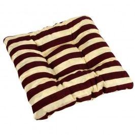 Sedák Leona pruhy vanilka, 40 x 40 cm