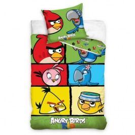 Bavlnené obliečky Angry Birds 7007, 140 x 200 cm, 70 x 80 cm
