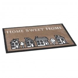 Vopi vnútorná rohožka Home sweet home brown, 50x75 cm