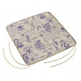 Sedák Adela hladký Byliny fialová, 40 x 40 cm