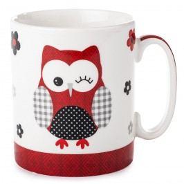 Hrnček Červená sova 750 ml, porcelán