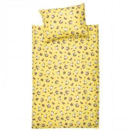 JAHU Detské bavlnené obliečky do postieľky Kačičky, 100 x 135 cm, 40 x 60 cm