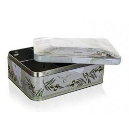 Plechovka / box na čaj OLIVES 20 x 15,5 x 8 cm