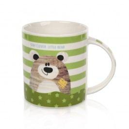 Porcelánový hrnček Little bear 280 ml, zelená