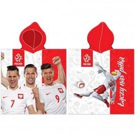 BedTex Detské pončo futbal PZPN, 50 x 100 cm