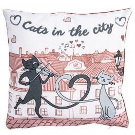 Obliečka na vankúšik Mačky v meste, 40 x 40 cm, 40 x 40 cm