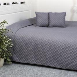 Prehoz na posteľ Orient sivá, 220 x 240 cm, 40 x 40 cm