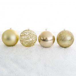 Vianočné gule mix pr. 10 cm, zlatá, HTH