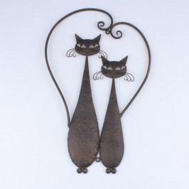 Dakls Kovová dekorácia na stenu Cats, 52 cm