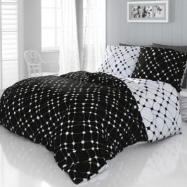 Kvalitex Saténové obliečky Infinity čiernobiela, 140 x 220 cm, 70 x 90 cm