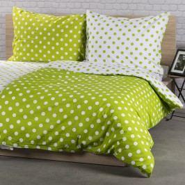 Bavlnené obliečky Zelená bodka, 140 x 200 cm, 70 x 90 cm