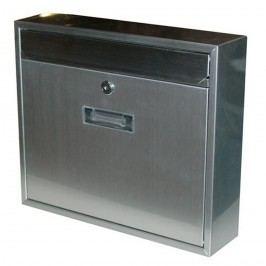Poštová nerezová schránka Radim V strieborná, 36 cm