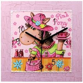 Nástenné hodiny Pink Pony
