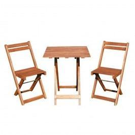 HAPPY GREEN Balkonový drevený set Acacia 3-dílný