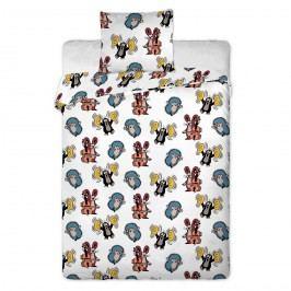 Jerry Fabrics Detské bavlnené obliečky Krtko kids, 90 x 130 cm, 40 x 60 cm