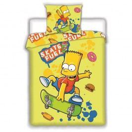 Jerry Fabrics Detské bavlnené obliečky Bart Skate Yellow, 140 x 200 cm, 70 x 90 cm