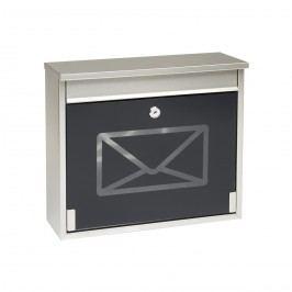 Richter Poštová nerezová schránka s tvrdeným sklom, čierna