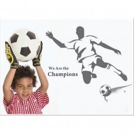 Samolepiaca dekorácia Futbalista sivý