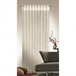 Povrázková záclona Cord krémová, 90 x 245 cm